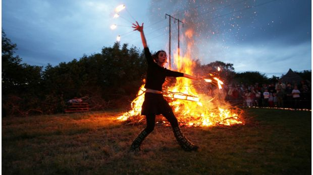 Summer Solstice celebrations in Brigits Garden, Roscahill, Co Galway in 2009. Photograph: Bryan O'Brien