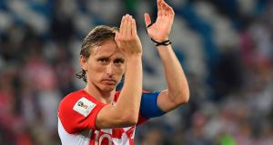 Luka Modric will be key for Croatia against Argentina on Thursday night. Photograph: Patrick Hertzog/AFP/Getty