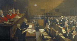 "The  Trial of Roger Casement by Sir John Lavery: The evidence for Casement's homosexuality is contained in the notorious ""Black Diaries"" which were circulated  during his trial in 1916. Photograph courtesy of Royal Irish Academy."