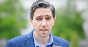 Minister for Health, Simon Harris: addresses criticisms levelled at the people who gathered in Dublin Castle for the referendum result.  Photograph: Gareth Chaney/Collins
