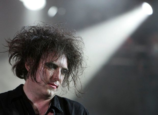 Robert Smith, singer of The Cure. Photograph: Thierry Roge/Reuters