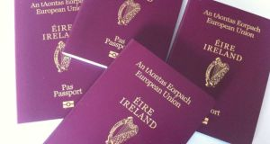 Demand for Irish passports is at a record level with applications up 8.5 per cent year on year. Photograph: Bryan O'Brien/The Irish Times