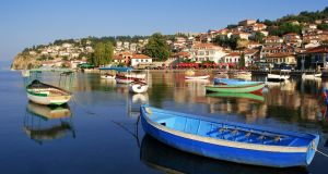 Lake Ohrid is hugely popular with domestic tourists but there are relatively few foreign visitors. Photograph: iStock