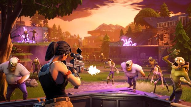 Fortnite Battle Royale: each game's 100 players land on an island where they fight and kill each other