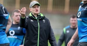 Head coach Joe Schmidt during Ireland  squad training at North Sydney Oval,  Australia. Photograph: Dan Sheridan/Inpho