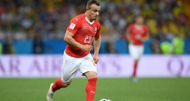 b57a218818d Xherdan Shaqiri of Switzerland: the forward will be wearing a right football  boot against Serbia