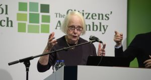 Chairwoman of the  Citizens' Assembly Ms Justice Mary Laffoy. Photograph: Cyril Byrne