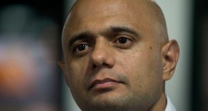 "Britain's home secretary Sajid Javid: ""With the scheme, we're meeting our commitment to secure the rights of EU citizens who are already in this country."" Photograph:  Victoria Jones/PA"