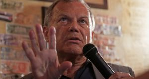 Sir Martin Sorrell during a session in a pub as part of the Cannes Lions International Festival of Creativity, in Cannes, France, on Thursday. Photograph: Eric Gaillard/Reuters