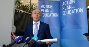 Minister for Education Richard Bruton: this new process has 'the potential to change the course of education in Ireland'. Photograph: Dara Mac Donaill