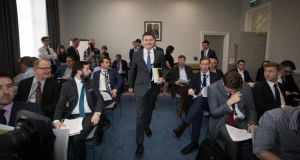 Minister Paschal Donohoe prior to announcing his Summer Economic Statement. Photograph: Tom Honan