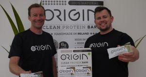Ross McDowell   and Niall Harty, founders of Origin Clean Protein Bars