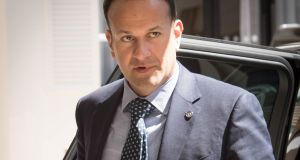 Leo Varadkar arrives to attend the British-Irish Council  in Guernsey. Photograph: Stefan Rousseau/PA Wire