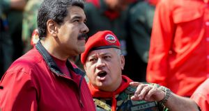 Venezuelan president Nicolas Maduro with influential politician and army member Diosdado Cabello in Caracas. File photograph: Federico Parra/AFP/Getty Images