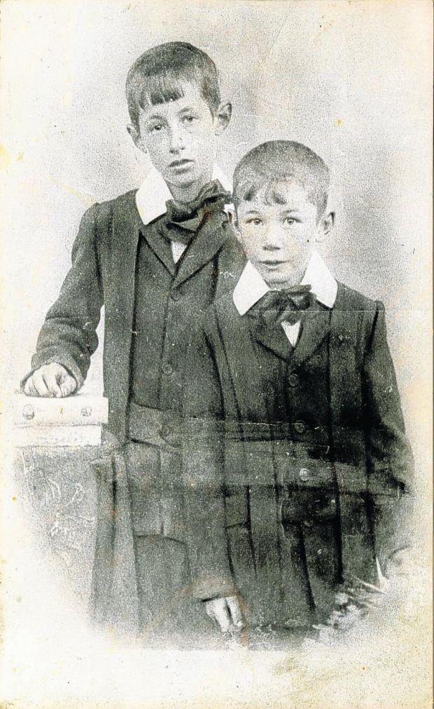 Daddy and Uncle Tommy in 1910