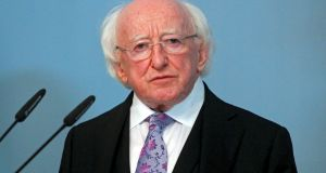 As the incumbent, President Michael D. Higgins can nominate himself for a second term. Photograph: Toms Kalnins/EPA