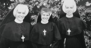 Sister Josephine (left), Sister Gabrielle (right)  (and their  youngest sister Ann (centre), who later left religious life. Photo courtesy of the Murray family