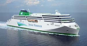 A CGI version of the delayed Irish Ferries ship WB Yeats