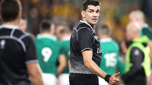Referee Pascal Gauzere made some questionable calls. Photograph: Mark Kolbe/Getty Images