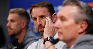 England manager Gareth Southgate during a press conference ahead of Sunday's match against Panama. Photograph: Carlos Barria/Reuters
