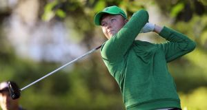 Ireland's Robin Dawson finished runner-up to  South Africa's Jovan Rebula in the British Amateur Championship at Royal Aberdeen on Saturday. Photograph:  Getty Images