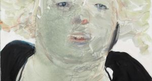 Marlene Dumas, Self-portrait at Noon, 2008, oil on canvas, 90 x 100 x 3 cm. Collection De Pont Museum, Tilburg (NL). Photograph: Peter Cox