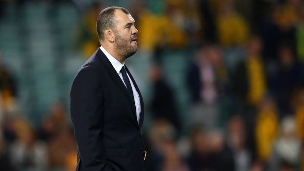 Michael Cheika saw his Australia side narrowly beaten by Ireland in Sydney. Photograph: Cameron Spencer/Getty