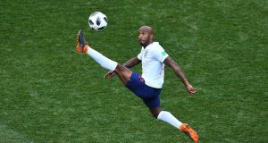 England's  Fabian Delph controls the ball during the  World Cup Group G  match against  Panama at the Nizhny Novgorod Stadium. Photograph:  Johannes Eisele/AFP/Getty Images