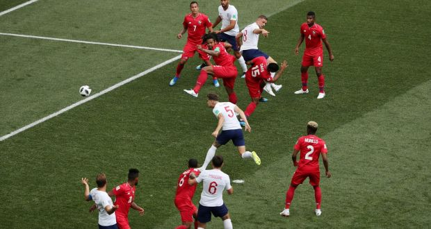 b4c5fd3c44a England s John Stones scoring their first goal against Panama in Nizhny  Novgorod Stadium. Photograph