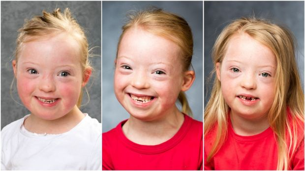 April photographed in 2016, '17 and '18. Name: The youngest in her family, April has two older brothers, Ollie (10) and Thomas (9).