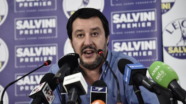 Matteo Salvini: how far he will go, and how high his popularity will grow, could shape the future of Europe. Photograph: Flavio Lo Scalzo