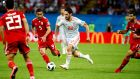 Isco will be key as Spain look to top Group B with victory over Morocco on Monday. Photograph: Diego Azubel/EPA
