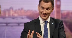 "Jeremy Hunt MP on BBC's ""Andrew Marr Show"": ""The more that we undermine Theresa May the more likely we are to end up with a fudge which will be an absolute disaster for everyone."" Photograph:  Jeff Overs/BBC/PA"