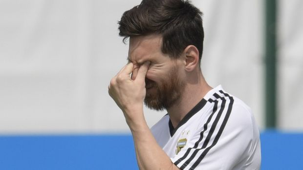 Lionel Messi's Argentina must beat Nigeria in order to progress to the last-16. Photograph: Juan Mabromata/AFP