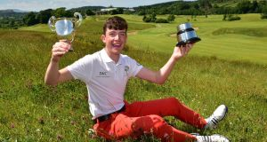 Dylan Keating (Seapoint) winner of the 2018 Irish Under 16 Boys Amateur Open Championship at Castle Dargan Golf Resort. Picture by Pat Cashman