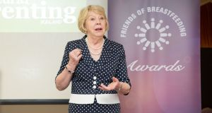 Sabina Higgins addressing the Friends of Breastfeeding event in Naas, Co Kildare.