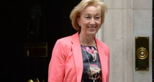 "Andrea Leadsom, who has called the preferred solution to the Brexit Irish border customs impasse ""bureaucratic, unwieldy and impractical"". Photograph: Victoria Jones/PA Wire"