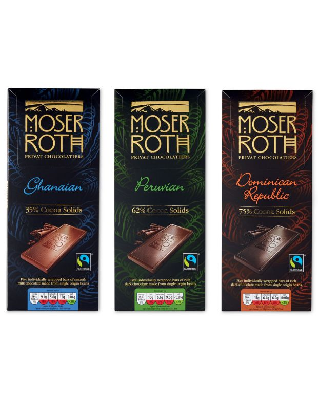 Aldi's Moser Roth dark chocolate range: its 75 per cent chocolate does not use palm oil