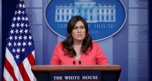 US White House press secretary Sarah  Sanders: tweeted that she had been asked to leave the Red Hen restaurant in Virginia on Friday night . Photograph:  Leah Millis/Reuters