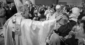 Pope John Paul II in Ireland, 1979. When Pope Francis arrives here in August, he will be visiting a secular society that bears little resemblance to the one that welcomed his predecessor so fulsomely