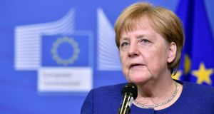 German chancellor Angela Merkel: Forsa poll shows 71 per cent of Germans – and 68 per cent of Bavarians – support her push for a European solution to the refugee crisis ahead of the CSU push for national solutions. Photograph: Eric Vidal/Reuters