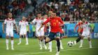 Iago Aspas earns Spain top spot after dramatic Morocco draw