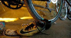 Bicycles and soccer boots belonging to the boys were found at the mouth of the cave. Photograph: Thai News Pix/AP