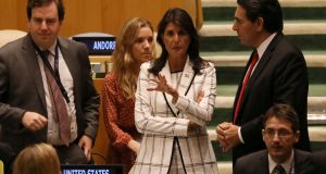 US ambassador to the United Nations Nikki Haley (centre). Photograph: Reuters