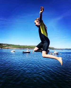 Pier jumping in Co Cork. Photograph: Jessie Castle