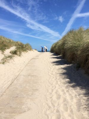 School's out! Heading to Curracloe Beach, Co Wexford after school last Friday. Photograph: Anne McDonnell
