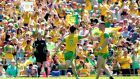 Donegal's Patrick McBrearty during Sunday's Ulster final. Photograph: James Crombie/Inpho