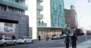 A CGI of a redeveloped 3-6 Cardiff Lane in Dublin 2