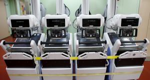 Portable X-ray machines made by GE Healthcare, which is to be  spun off.