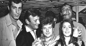 New York 1967: (left to right) Jeff Barry, Bert Berns, Van Morrison, Carmine Denoia (with cigar) and Janet Planet. Photograph: Michael Ochs Archives/Getty Images